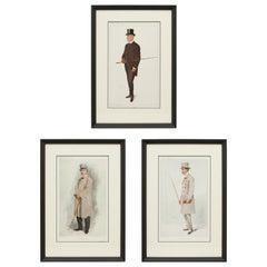 Set of Three Vanity Fair Coaching Prints, Men of the Day, Spy Print