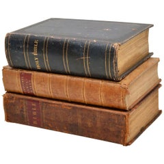 Set of Three Very Large Antique Holy Bibles 1778, 1813 and 1844