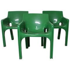 "Set of Three Vico Magistretti Lounge Chairs ""Gaudi"""
