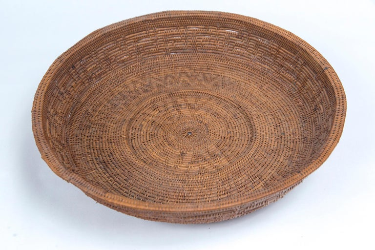 Set of Three Vintage Asian Baskets, 20th Century For Sale 1