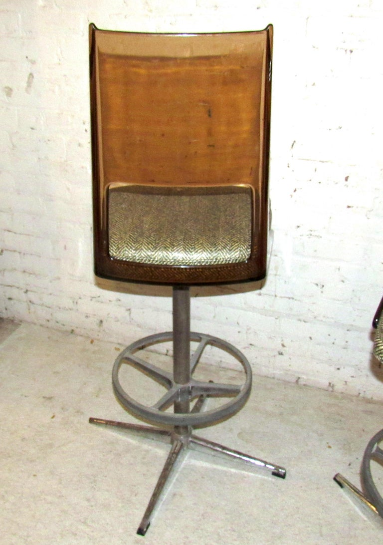 Set of Three Vintage Bar Stools For Sale 4