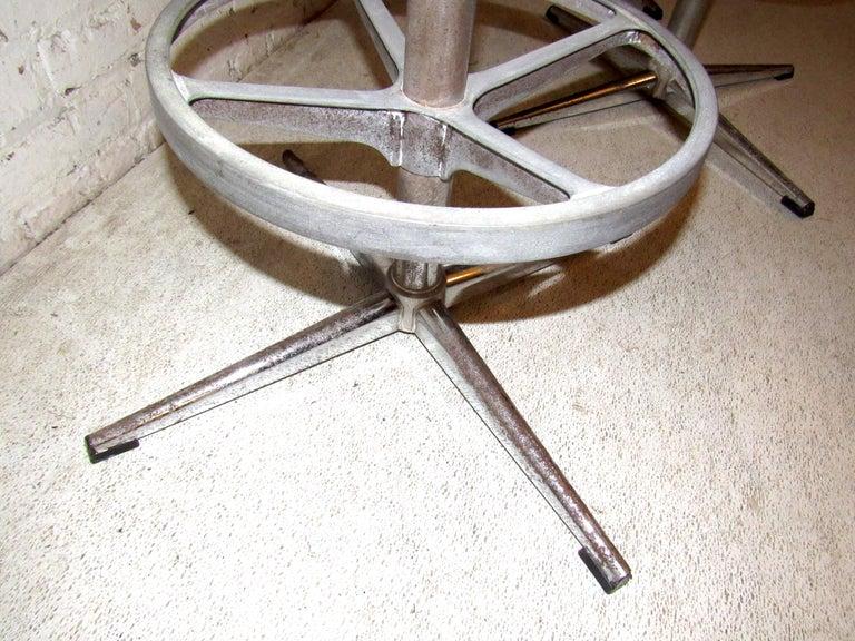 Set of Three Vintage Bar Stools For Sale 1