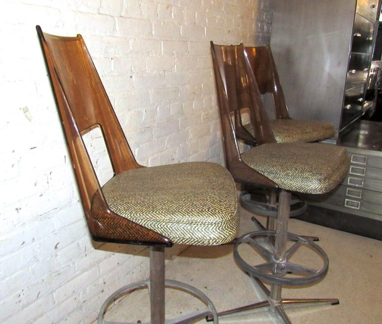 Set of Three Vintage Bar Stools For Sale 3