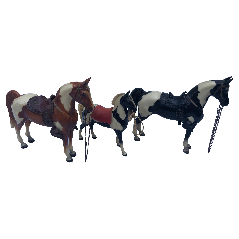 Set of Three Vintage Breyer Western Toy Horses