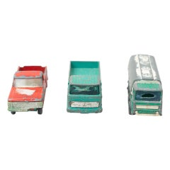 Set of Three Vintage Cargo MatcBox Toy Cars, circa 1960