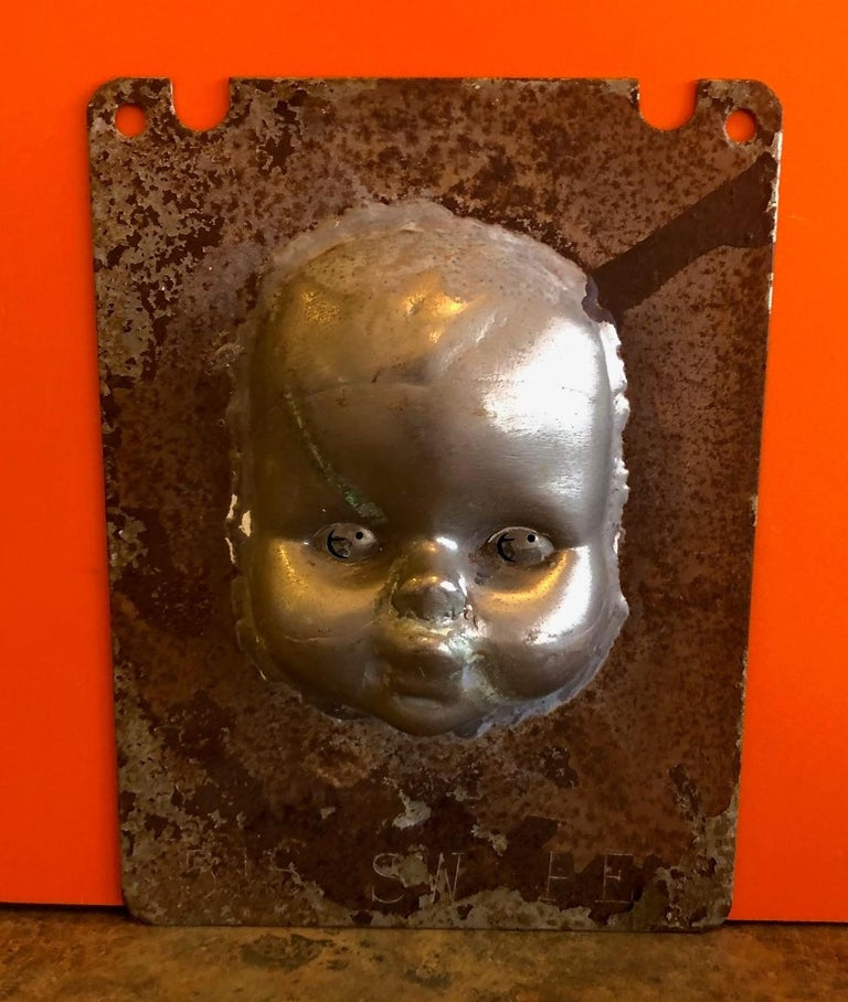 Set of Three Vintage Doll Head / Face Molds Steampunk For Sale 1
