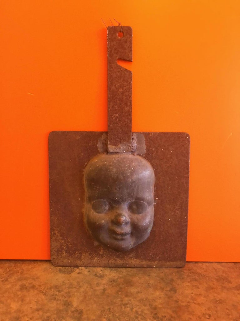 Set of Three Vintage Doll Head / Face Molds Steampunk For Sale 2