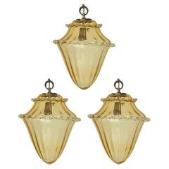 Set of Three Vintage Italian Pendants Designed by La Murrina, c 1960s