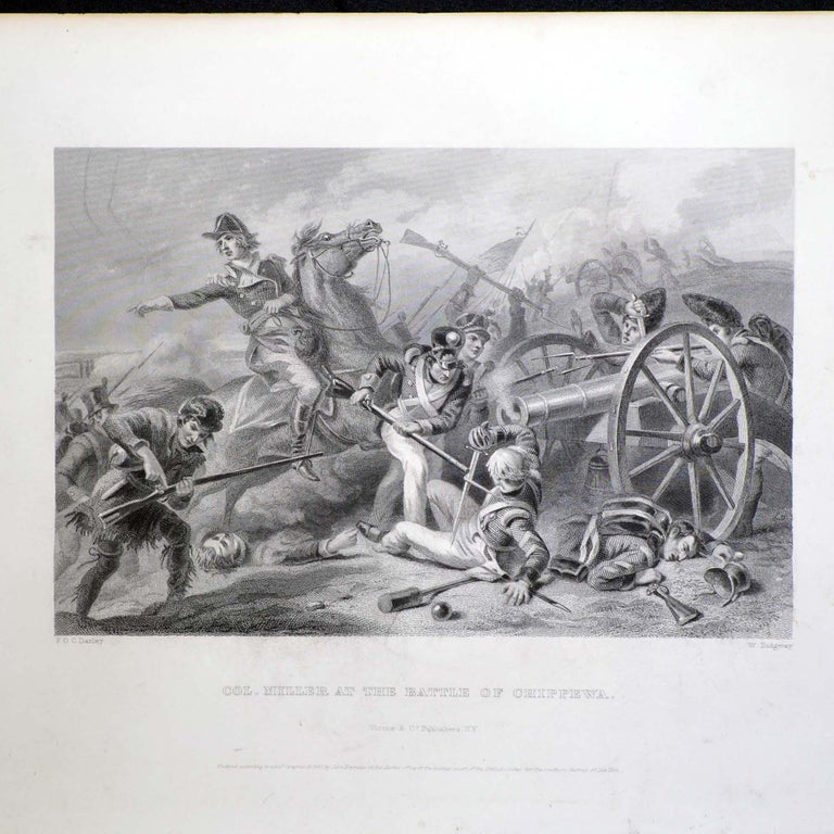 Set of Three Vintage Prints Major Ringold, Gen'l Taylor, Col Miller Black Frame In Good Condition For Sale In Pataskala, OH
