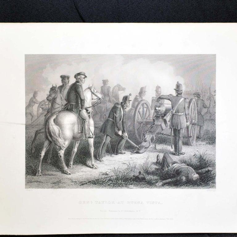 20th Century Set of Three Vintage Prints Major Ringold, Gen'l Taylor, Col Miller Black Frame For Sale