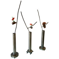 Set of Three Vintage Still Life Sculptures by David Kimball Anderson, 1988