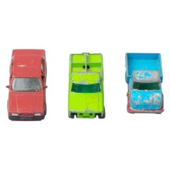 Set of Three Vintage Toy MatchBox Cars, circa 1960