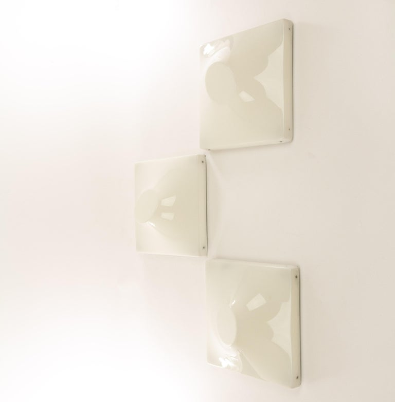 Mid-Century Modern Set of Three Wall Lamps by Ennio Chiggio for Emmezeta, 1970s For Sale