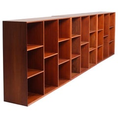 Set of Three Wall-Mounted Bookcases by Hvidt & Mølgaard