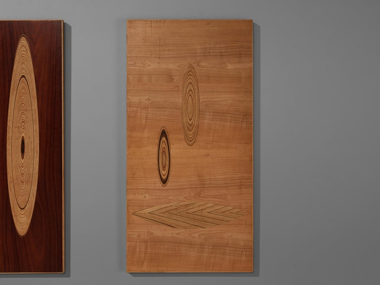 Birch Set of Three Wall Panels Designed by Tapio Wirkkala For Sale