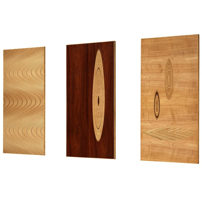 Set of Three Wall Panels Designed by Tapio Wirkkala For Sale