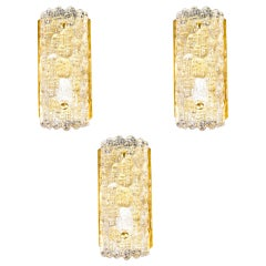 Set of Three Wall Sconces by Carl Fagerlund