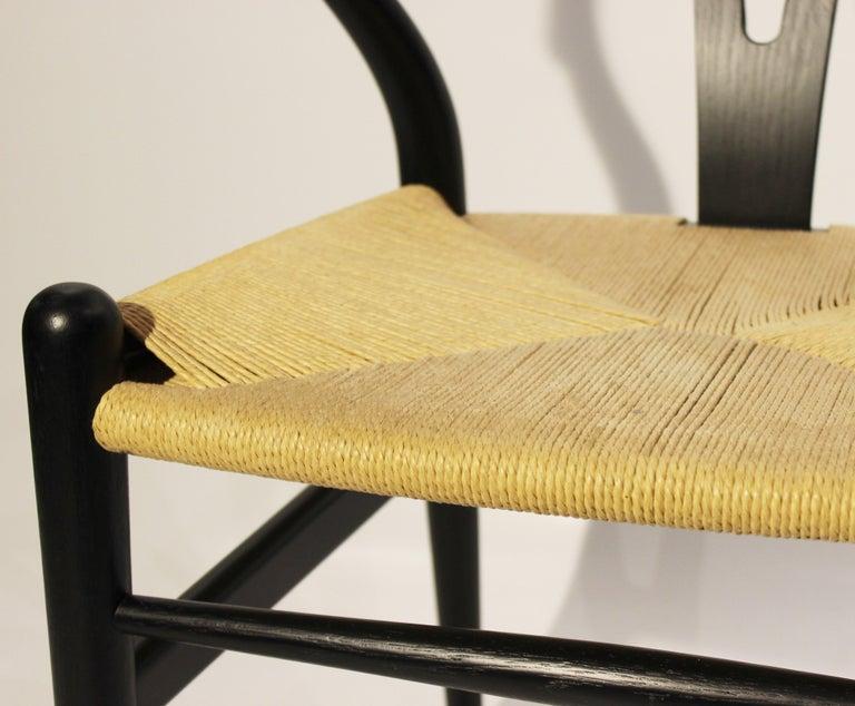 Danish Set of Three Wishbone Chairs, Model CH24, by Hans J. Wegner For Sale