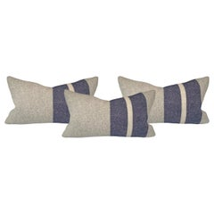 Set of Three Wool Striped Pillows