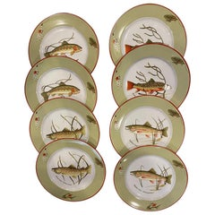 Set of Tiffany & Co. Trout Dinner Plates