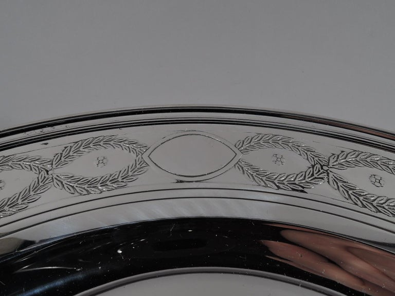 Set of Tiffany Winthrop Sterling Silver Dinner Plates and Bowls For Sale 4