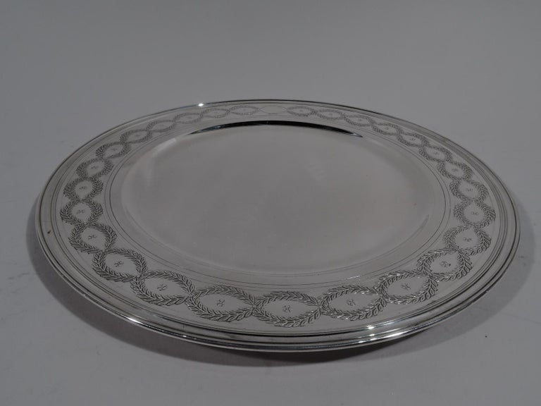 Set of Tiffany Winthrop Sterling Silver Dinner Plates and Bowls For Sale 2