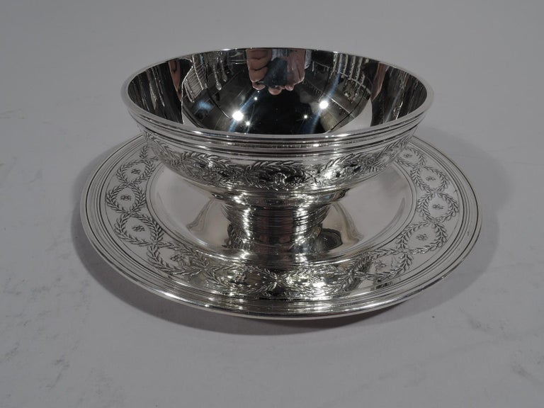 Set of Tiffany Winthrop Sterling Silver Dinner Plates and Bowls For Sale 3