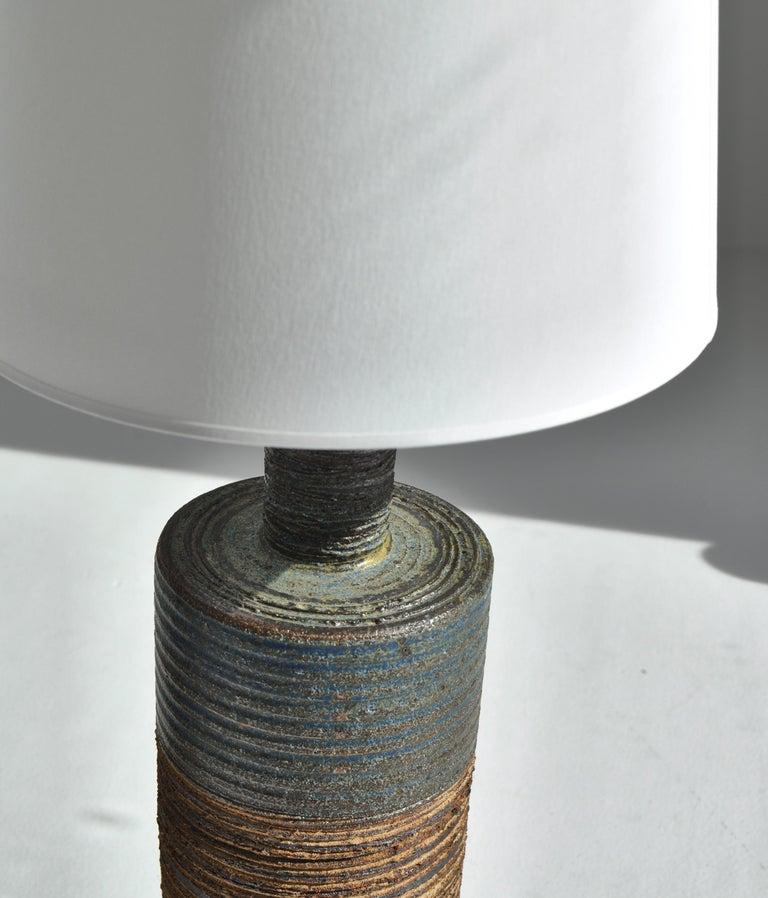 Mid-20th Century Set of Tue Poulsen Scandinavian Modern Ceramic Floor Lamp in Earth Colors, 1960s For Sale