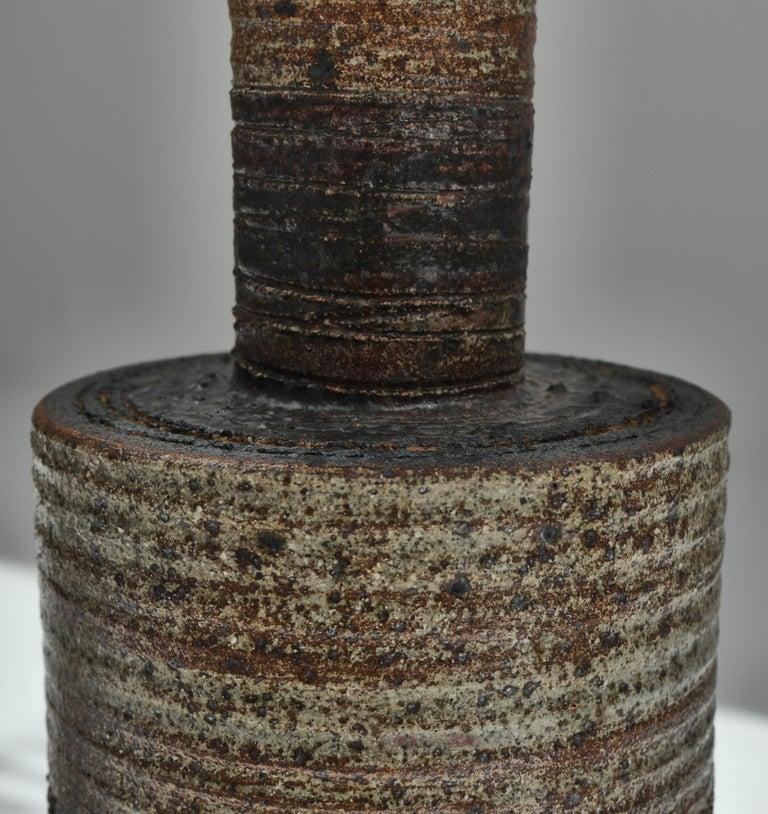 Set of Tue Poulsen Scandinavian Modern Ceramic Floor Lamp in Earth Colors, 1960s For Sale 1