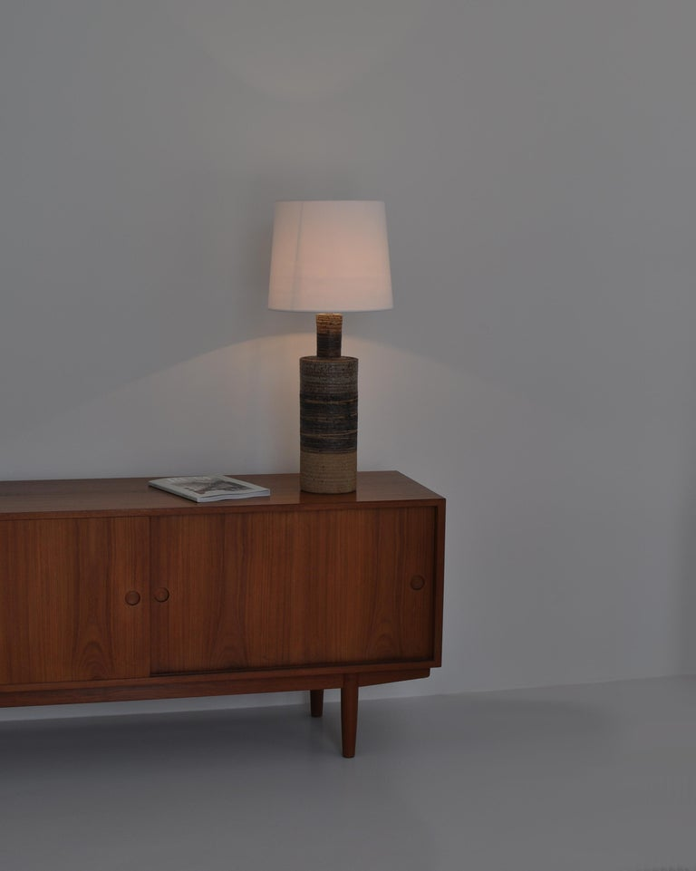 Set of Tue Poulsen Scandinavian Modern Ceramic Floor Lamp in Earth Colors, 1960s For Sale 3