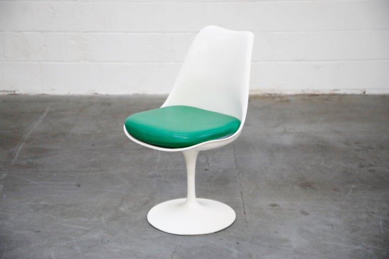 Set of Tulip Dining Side Chairs by Eero Saarinen for Knoll International, Signed For Sale 5