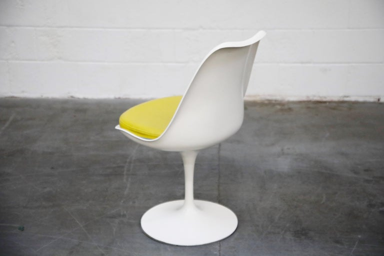 Set of Tulip Dining Side Chairs by Eero Saarinen for Knoll International, Signed For Sale 10