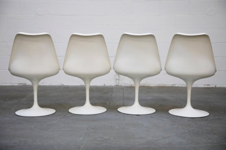 American Set of Tulip Dining Side Chairs by Eero Saarinen for Knoll International, Signed For Sale