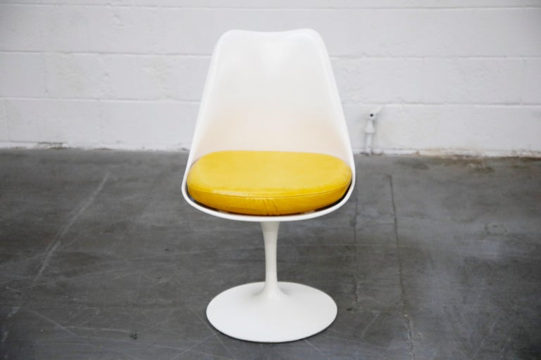 Set of Tulip Dining Side Chairs by Eero Saarinen for Knoll International, Signed For Sale 1