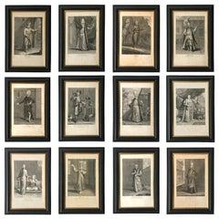 Set of Twelve 18th Century Engravings after Jean Baptiste Vanmour