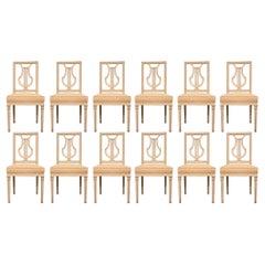 Set of Twelve 18th Century Louis XVI Period Dining Chairs