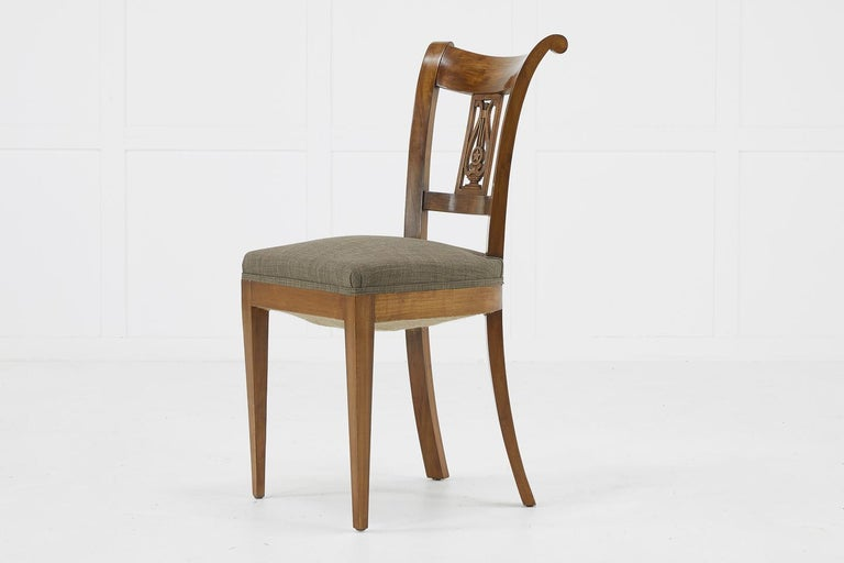 Set of Twelve 19th Century Austrian Cherrywood Dining Chairs For Sale 11