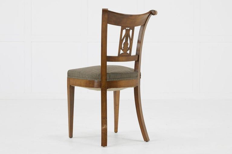 Set of Twelve 19th Century Austrian Cherrywood Dining Chairs For Sale 12