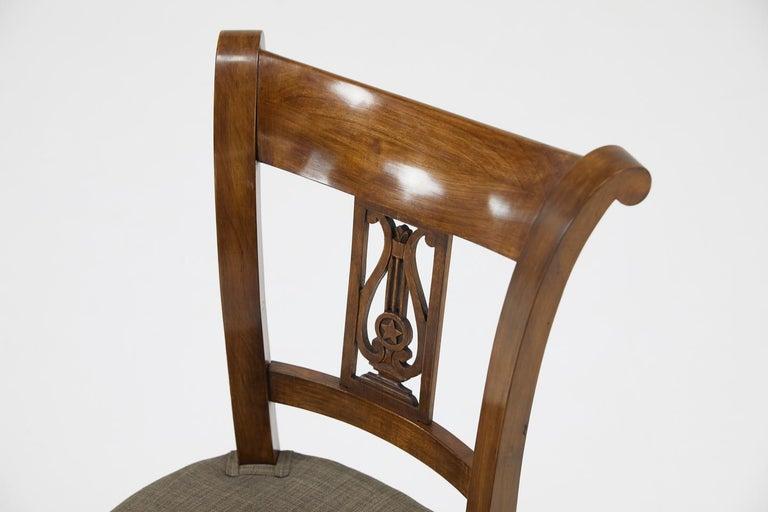 Set of Twelve 19th Century Austrian Cherrywood Dining Chairs For Sale 13