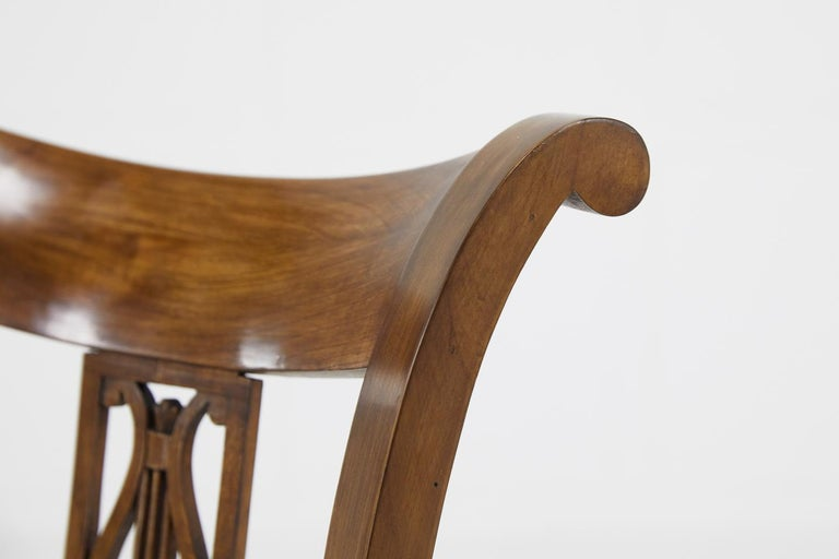 Set of Twelve 19th Century Austrian Cherrywood Dining Chairs For Sale 14