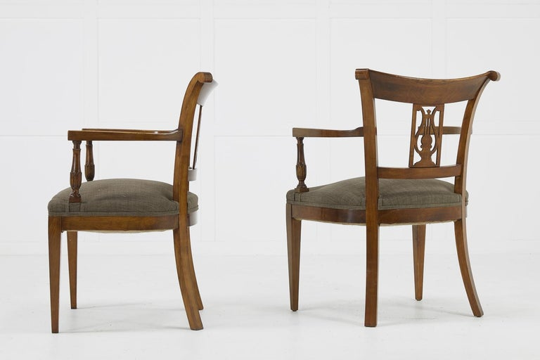 Set of Twelve 19th Century Austrian Cherrywood Dining Chairs For Sale 3