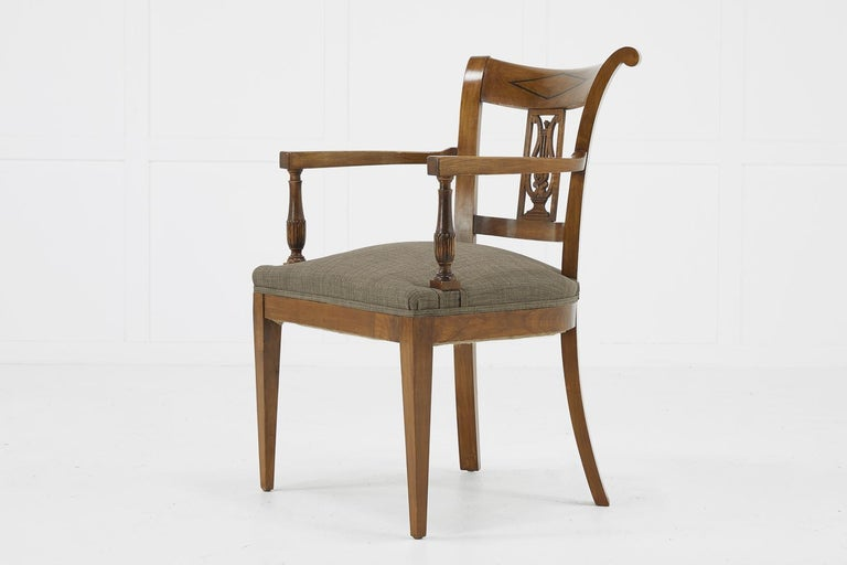 Set of Twelve 19th Century Austrian Cherrywood Dining Chairs For Sale 4