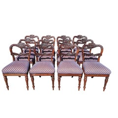 Set of Twelve 19th Century Dining Chairs in Goncales Alves by Gillow