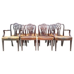 Set of Twelve 19th Century English Antique Dining Chairs