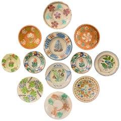 Set of Twelve 19th Century Hungarian Ceramic Bowls
