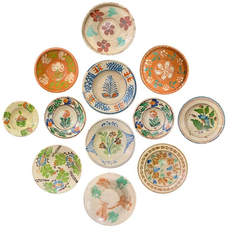 Set of Twelve 19th Century Hungarian Ceramic Bowls For Sale