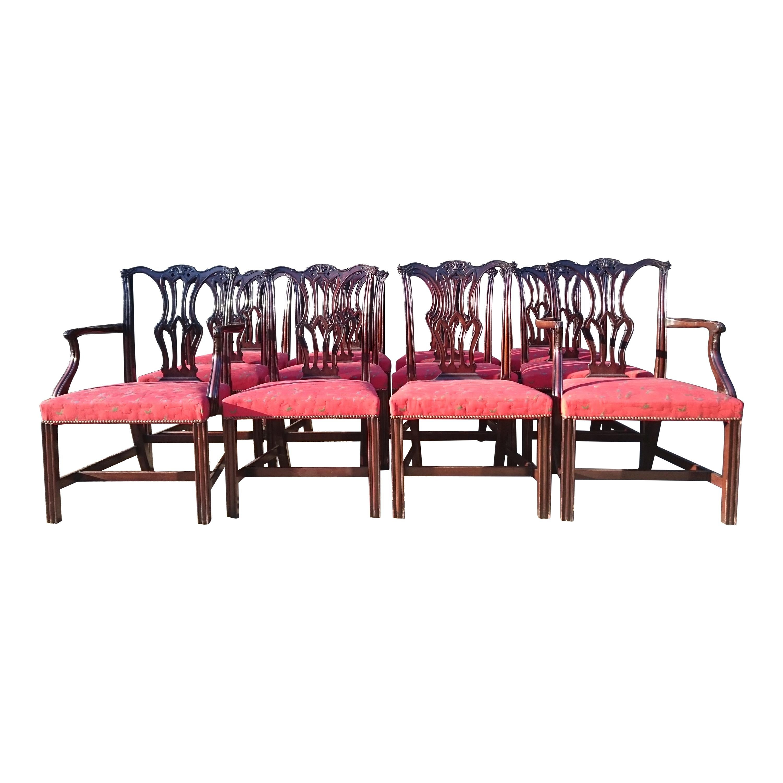 Set of Twelve Antique Dining Chairs