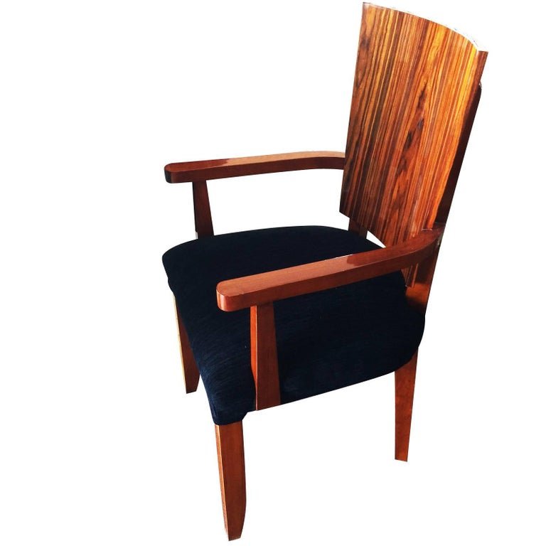 German Set of Twelve Art Deco  Dining Chairs Including 2 Carvers For Sale