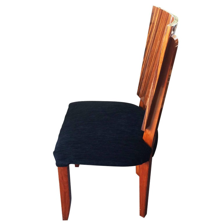 Late 20th Century Set of Twelve Art Deco  Dining Chairs Including 2 Carvers For Sale