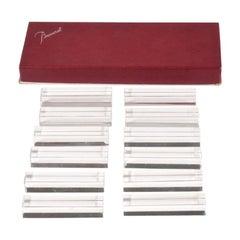 Set of Twelve Baccarat Vega Crystal Knife Rests